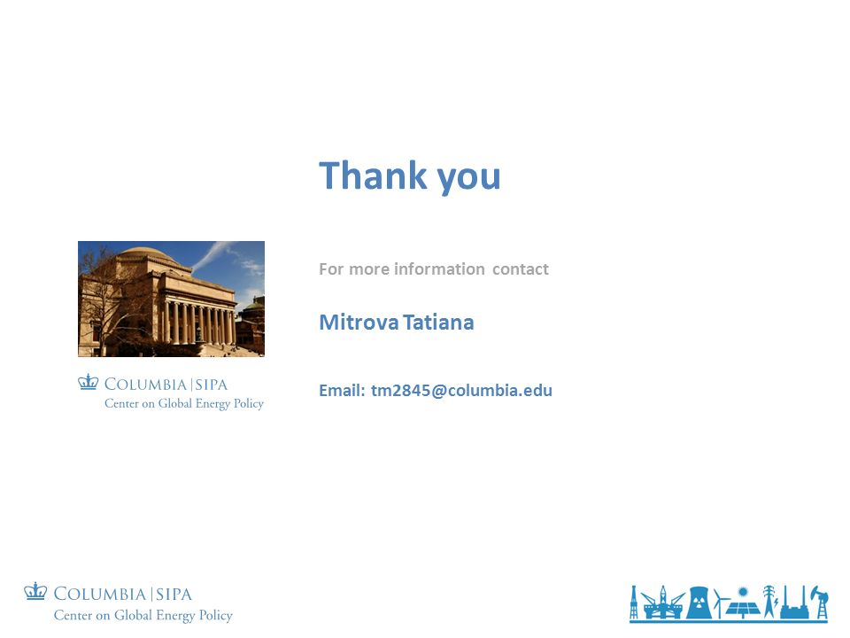 Thank you For more information contact Mitrova Tatiana