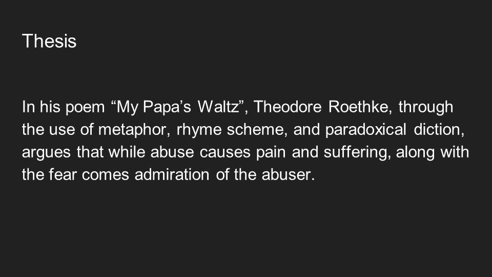 my papas waltz literary devices