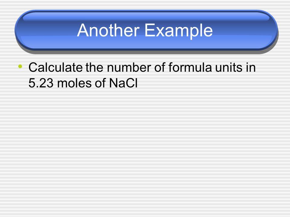 experiment determination of the formula unit of a compound
