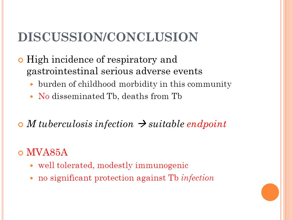 Safety And Efficacy Of Mvaa A New Tuberculosis Vaccine In   Discussionconclusion