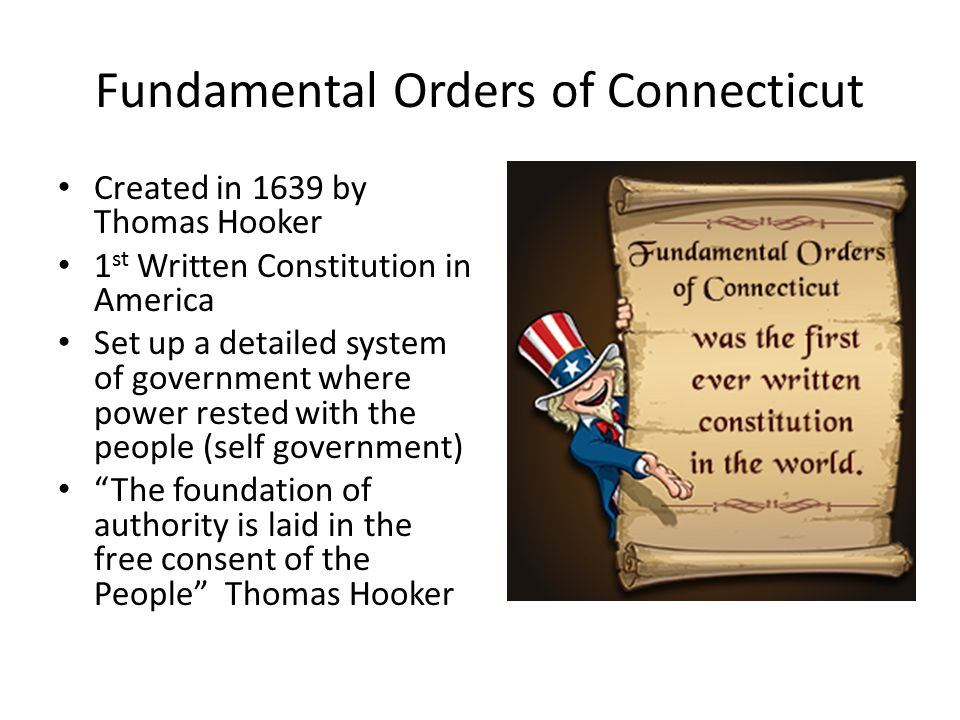 what were the fundamental orders