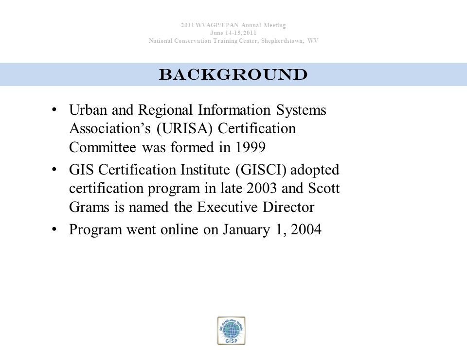 Professional Certification The Gis Certification Institute Gisc