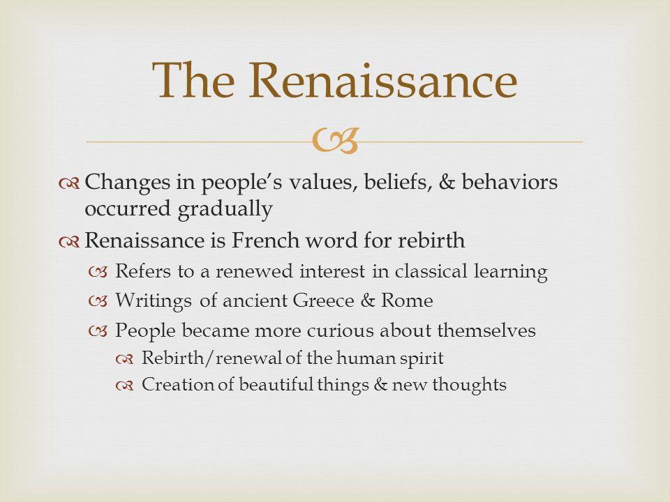 renaissance beliefs