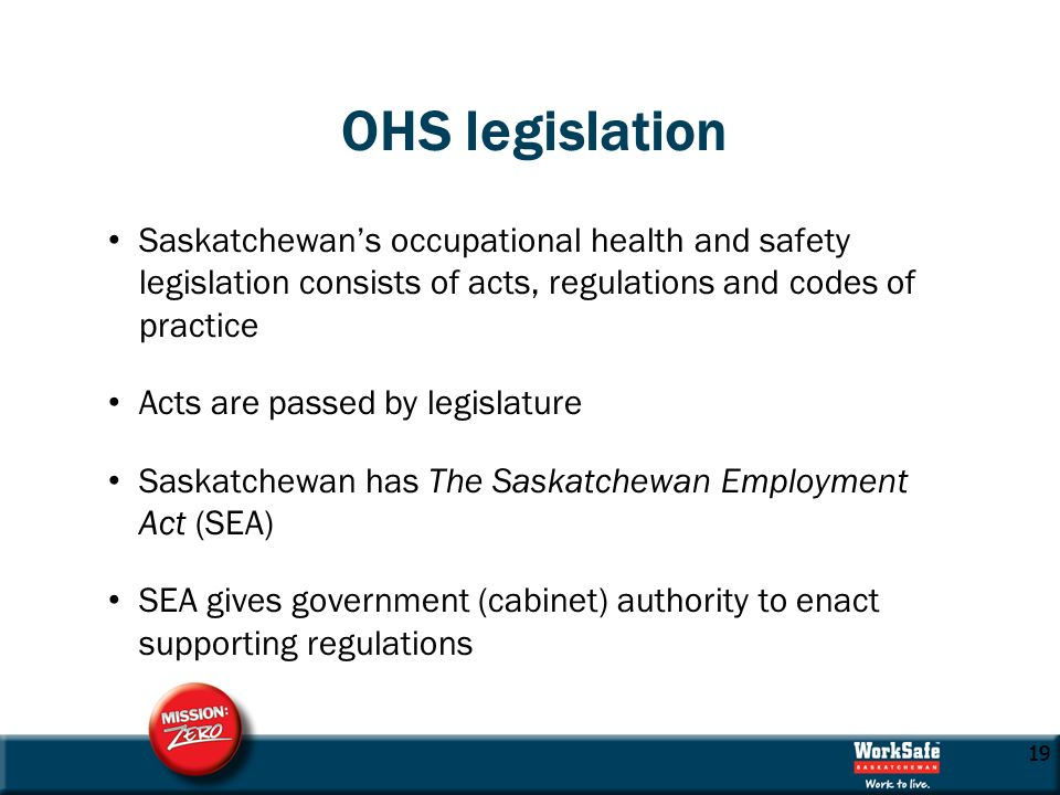 SASKATCHEWAN OH&S REGULATIONS PDF