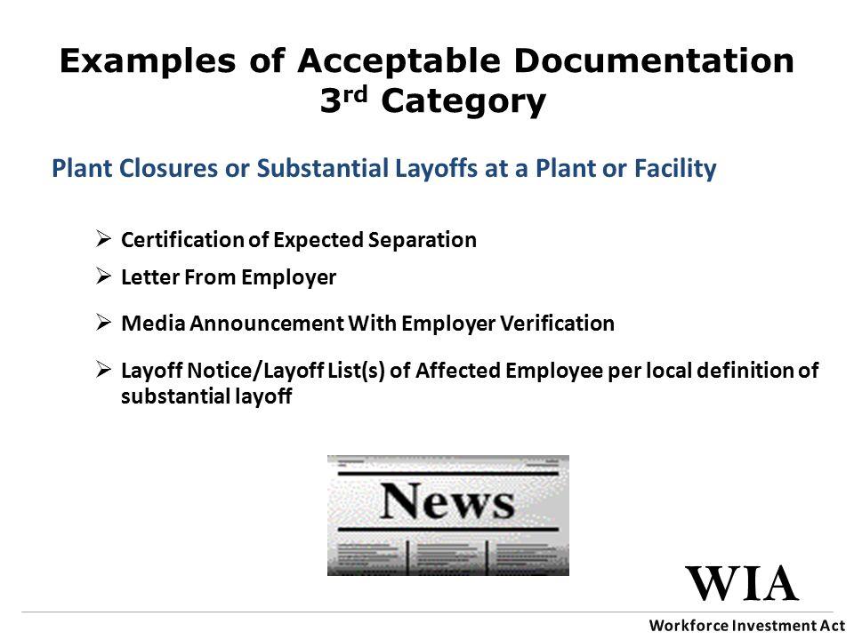 Training Series Wia Dislocated Worker Eligibility Wia Workforce