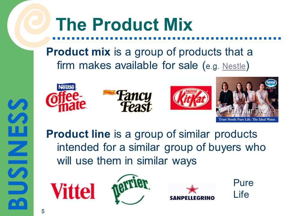 product line of nestle company