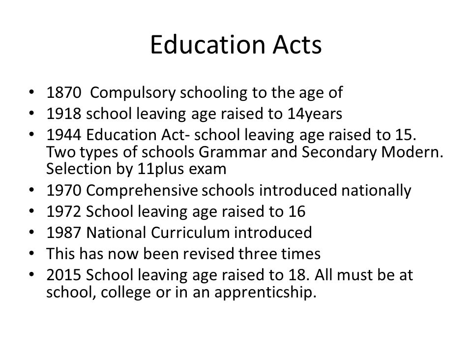 school leaving age 18