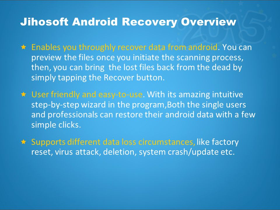 Full Review of Jihosoft Android Data Recovery - ppt download