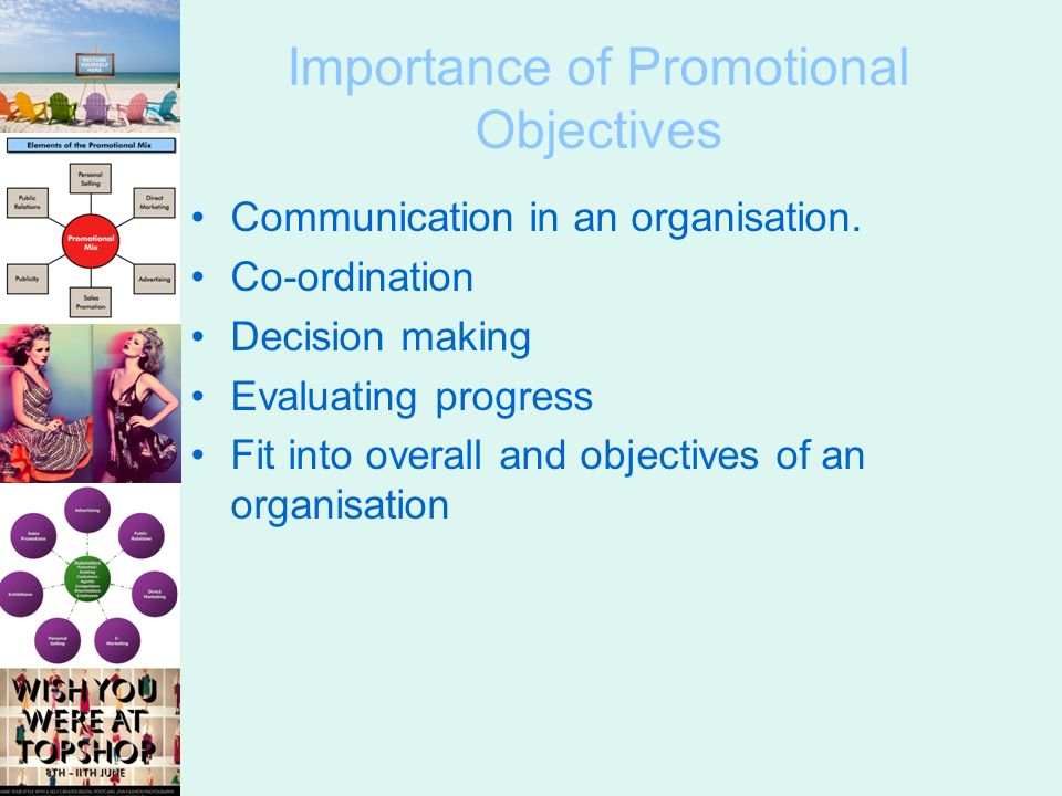 importance of promotional objectives