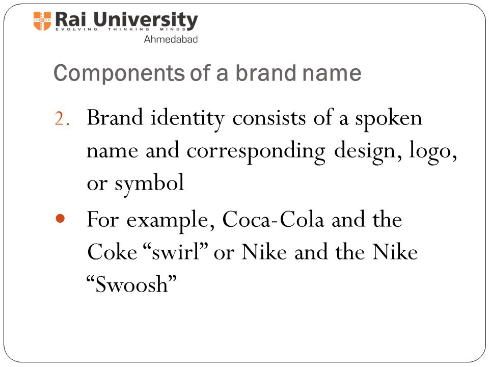 Concept Of Branding Forms Of Branding A Brand Is A Design Name