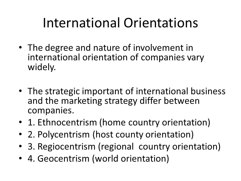 polycentrism in international business