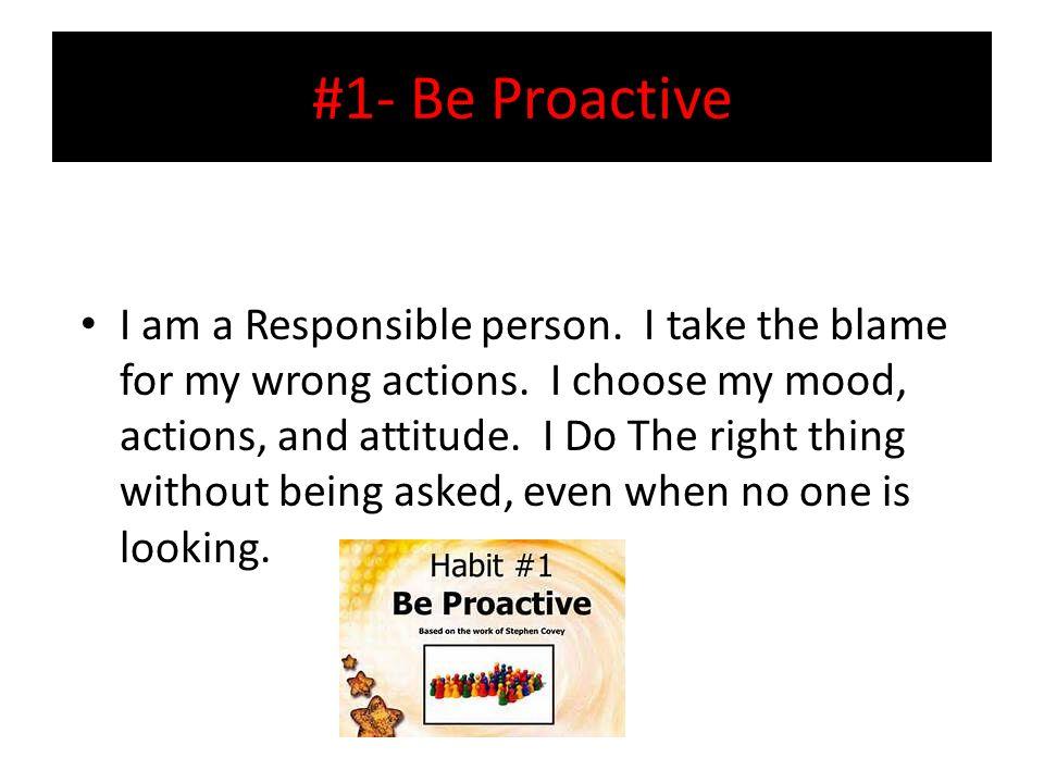 i am a responsible person