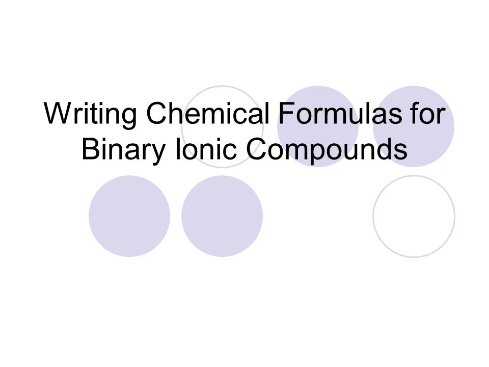 Chapter 7 Chemical Formulas And Chemical Compounds Section 1