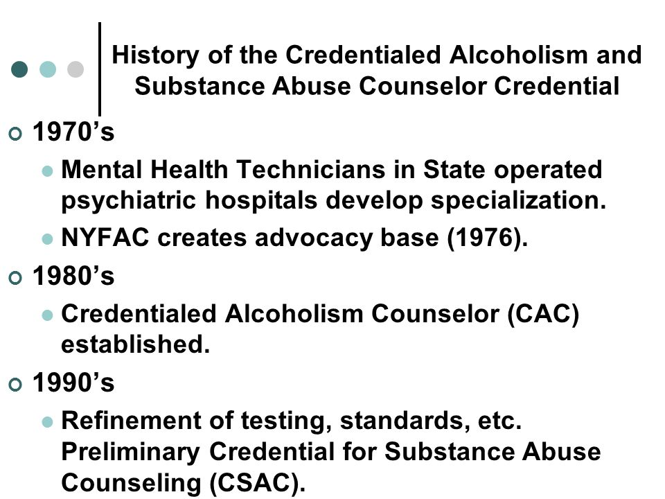 The Alcohol and Substance Abuse Credential (CASAC) in New York Dr ...