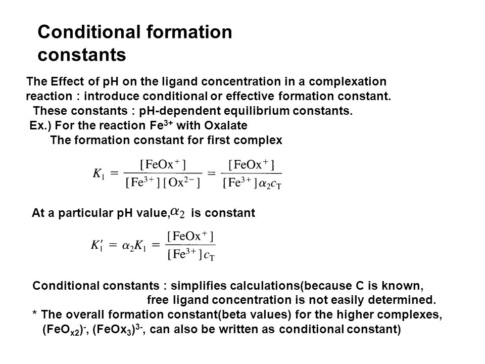 Ch  17 Complexation reactions and titrations A  The formation of