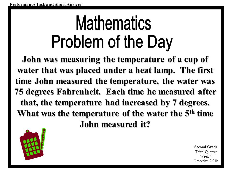 """Third Quarter. Each """"Problem of the Day"""" is correlated to ..."""