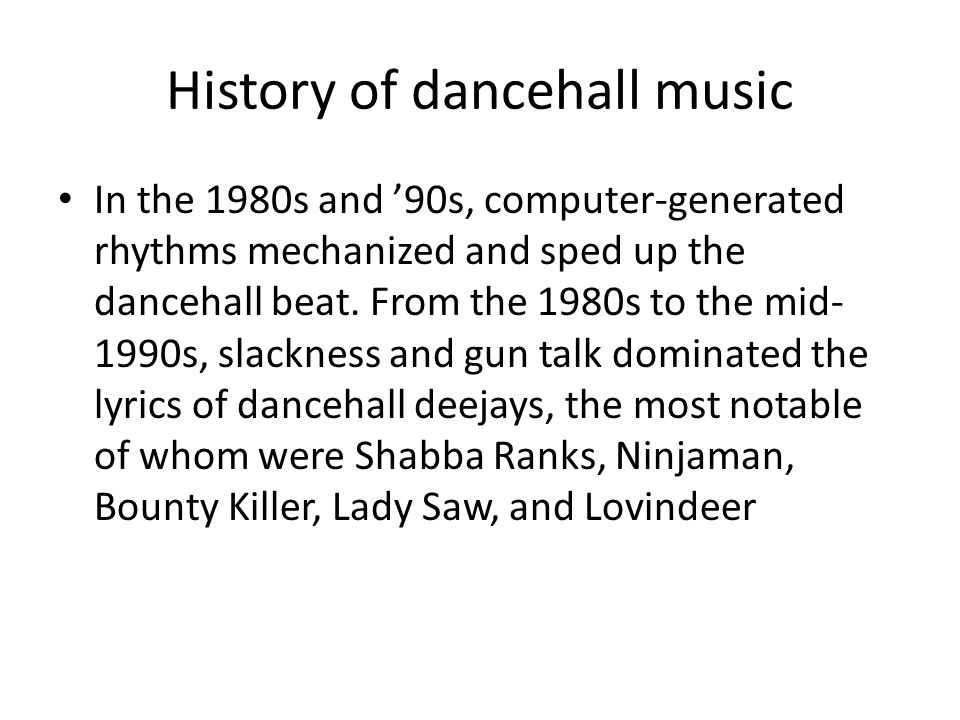 the influence of dancehall music in todays society essay 60 s music influence on our society essay while the free essays can give you inspiration for writing, they cannot be used 'as is' because they will not meet your assignment's requirements.