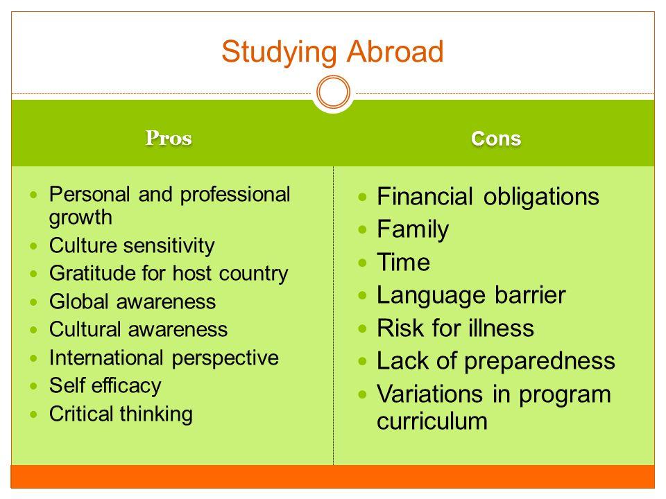 study abroad pros