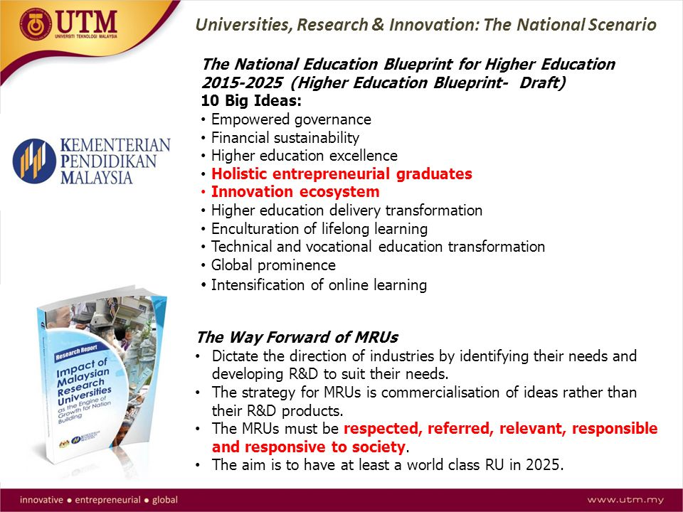 5 moving forward higher education global national scenario universities research innovation the national scenario the national education blueprint for higher education malvernweather Images
