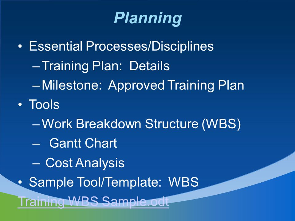 Quality Planning Management of a Training Program. - ppt download