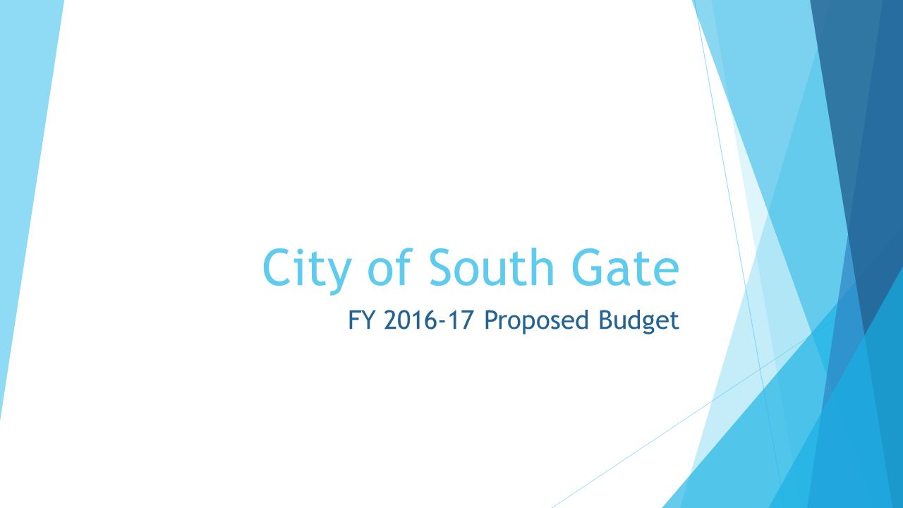 City Of South Gate >> City Of South Gate Fy Proposed Budget Breakdown Of General