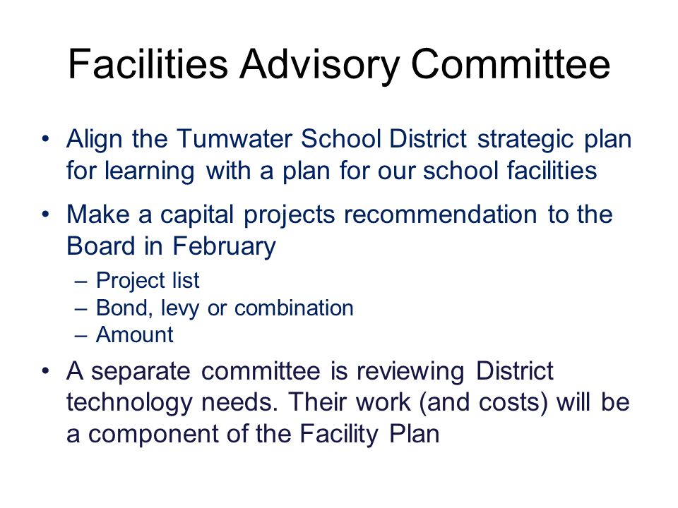 Tumwater School District Facilities Advisory Committee