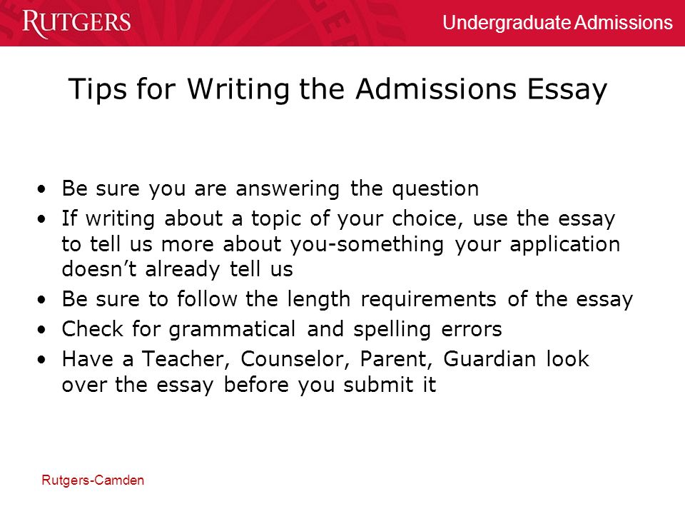 Rutgers Admissions Essay Length  Coursework Writing Service   Rutgers Admissions Essay Length Rutgers Admission Essay Constanze  Schulze Dissertation Rutgers Undergraduate Admissions Essay College  Application  Jane Eyre Essay Thesis also Thesis Statements For Essays  Health Is Wealth Essay