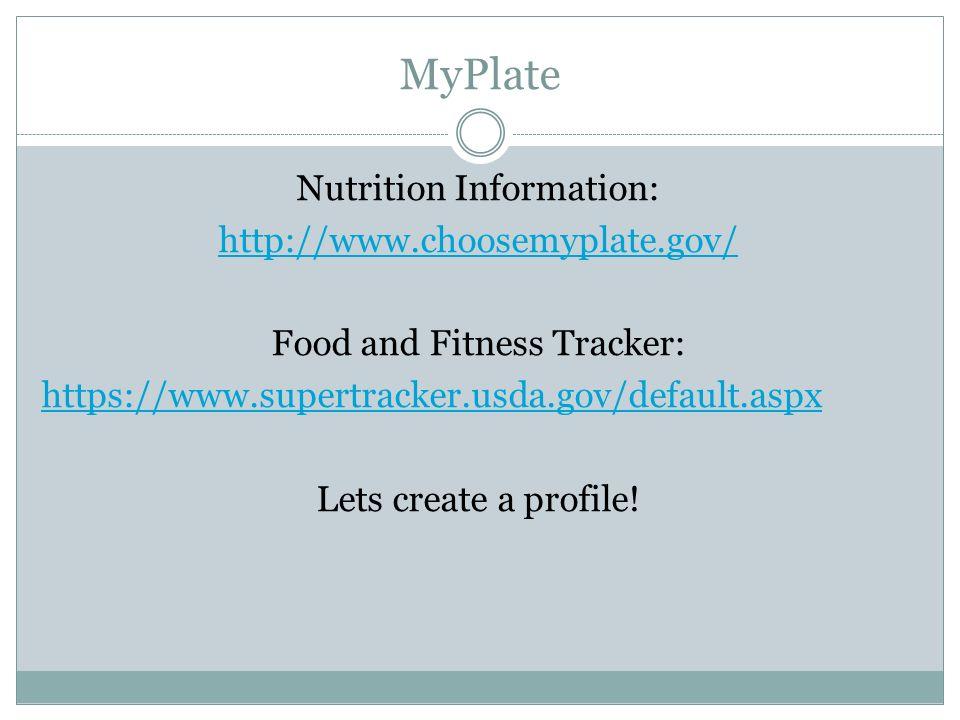 Www Choosemyplate Gov Food Tracker Food