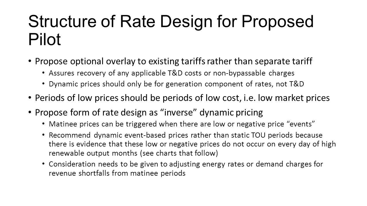 CLECA Proposal on Matinee Pricing Barbara R  Barkovich, Barkovich