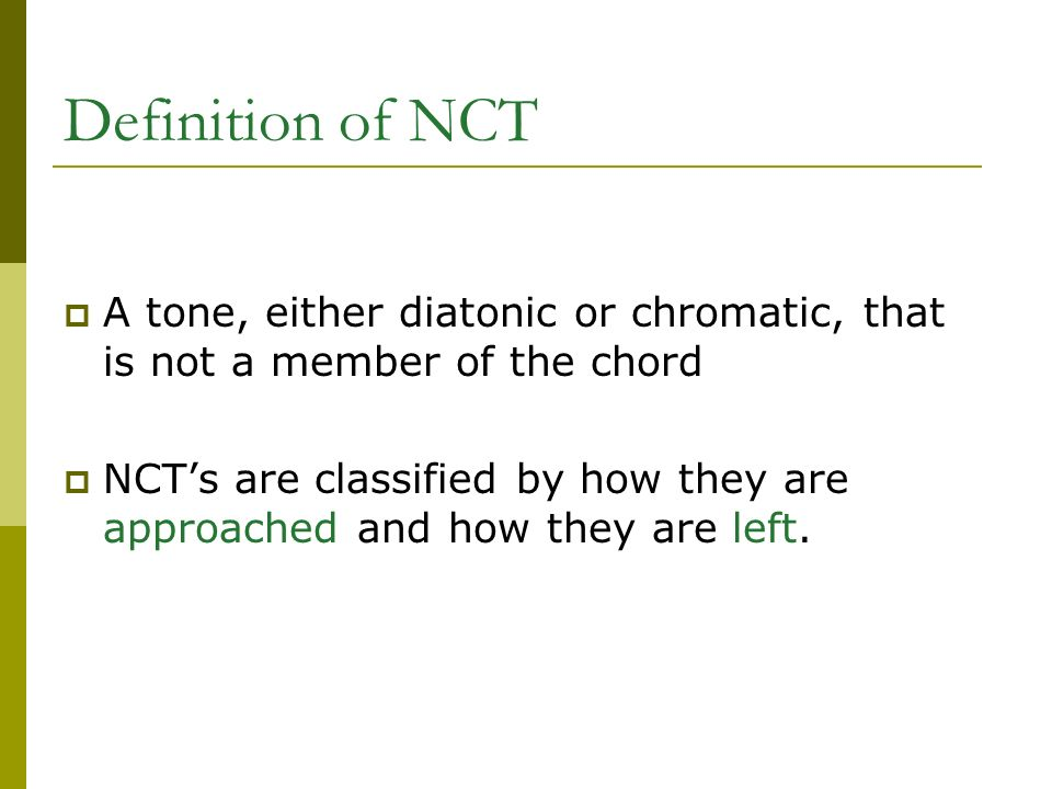 Non Chord Tones Musical Adjectives Definition Of Nct A Tone