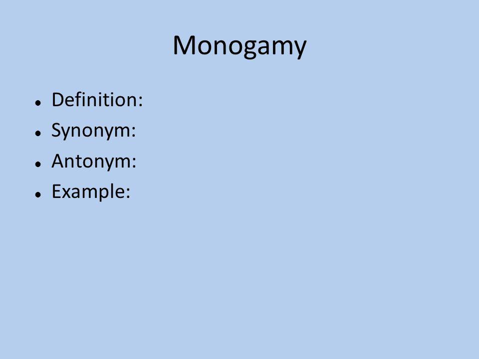 Monogamous synonym