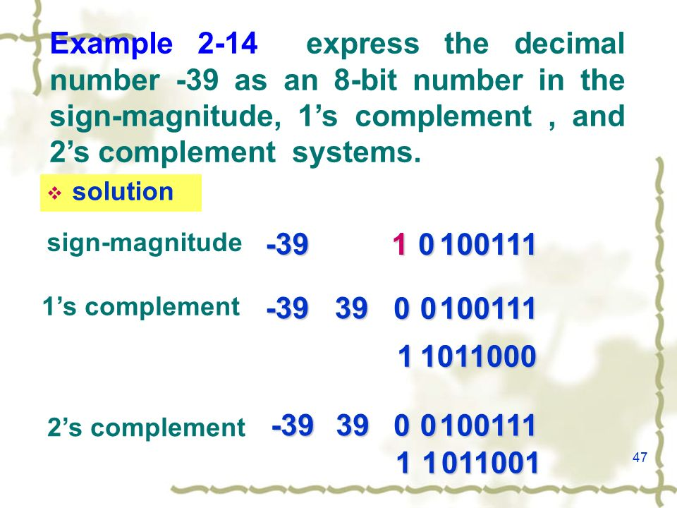 By Photo Congress || Convert The Following Decimal Numbers To 8 Bit