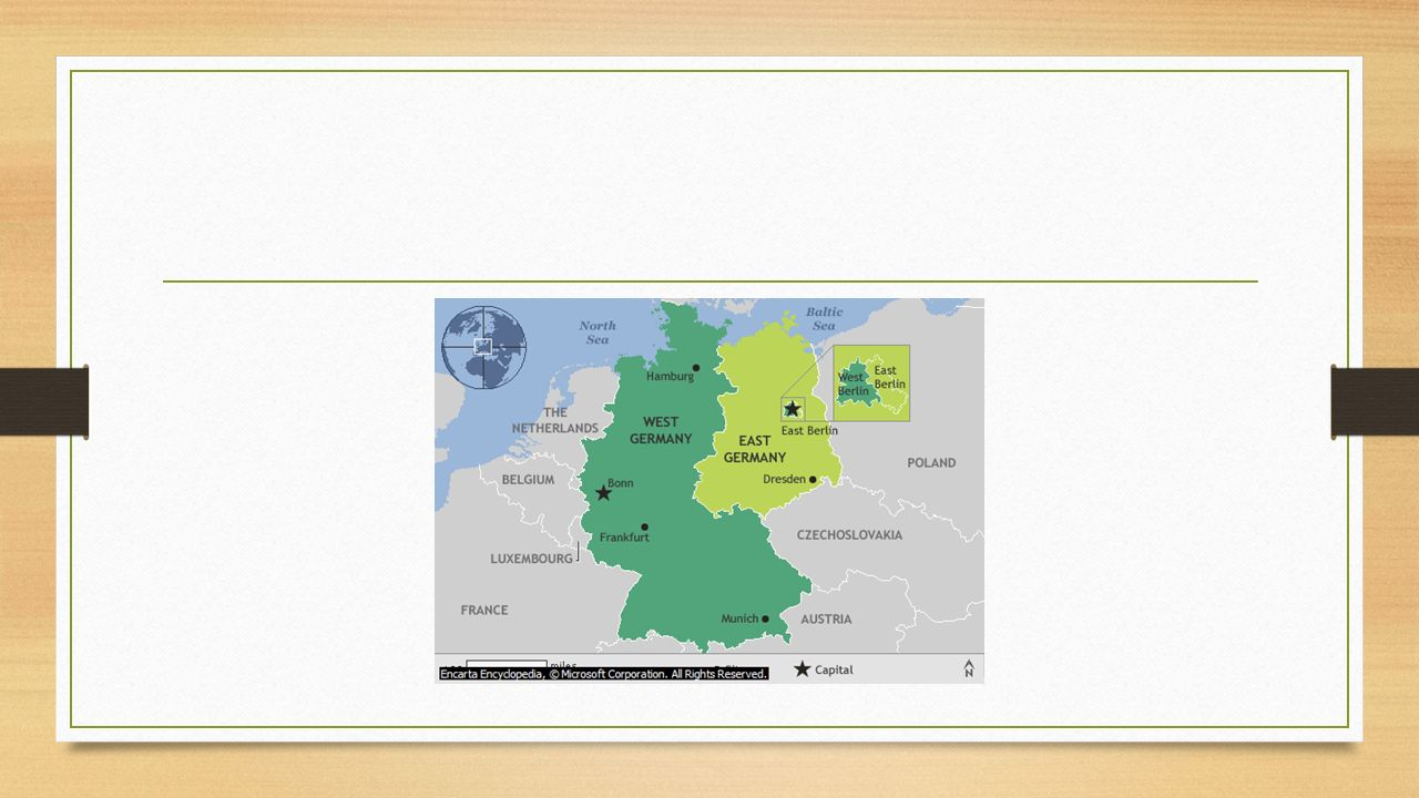 REASONS for the division of Germany into the FRG and the GDR 1945 year