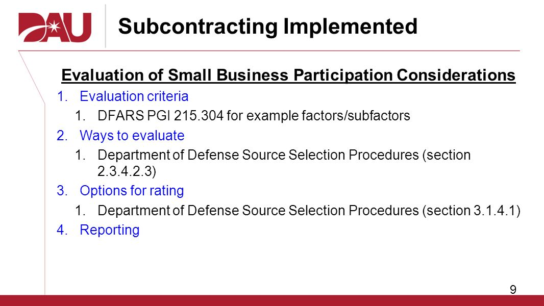Small business and subcontracting subcontracting for small business 9 subcontracting implemented flashek Image collections