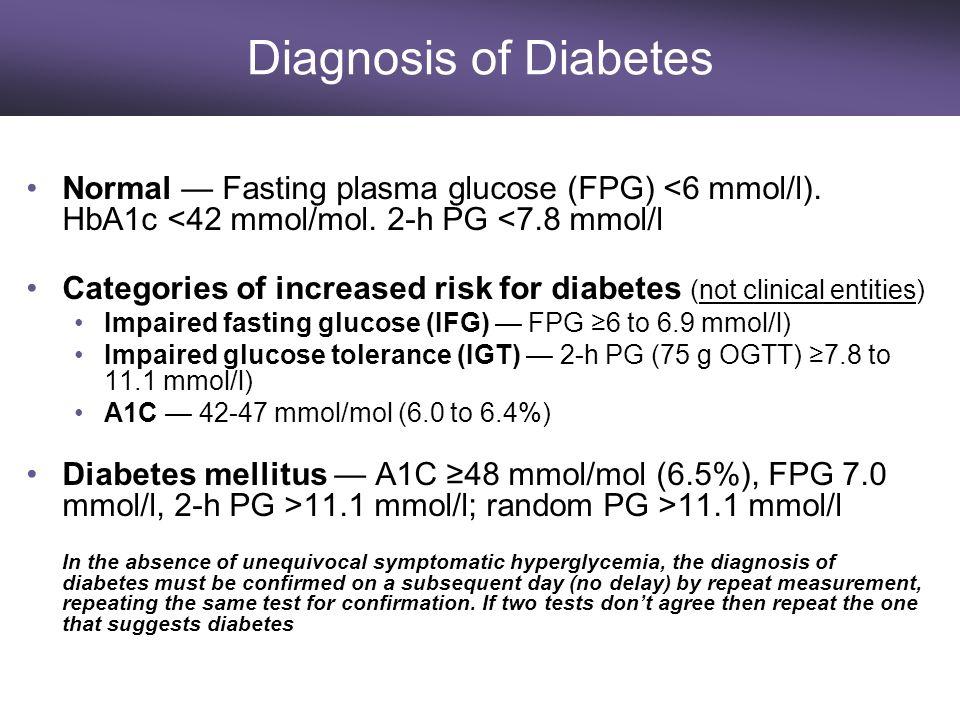 2 h pg diabetes mellitus