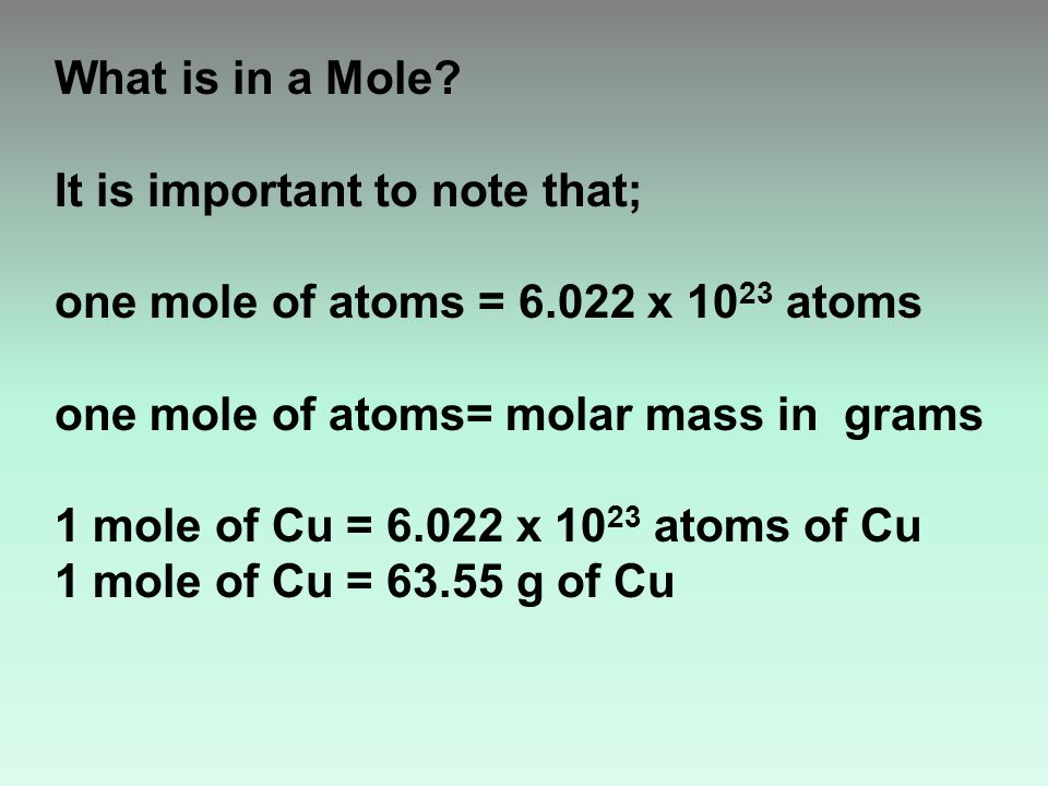 What is in a Mole.