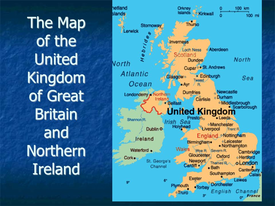 Britain And Ireland Map.The Map Of The United Kingdom Of Great Britain And Northern Ireland