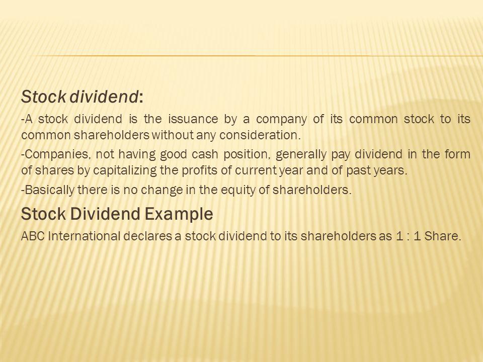 Liquidating dividend definition example