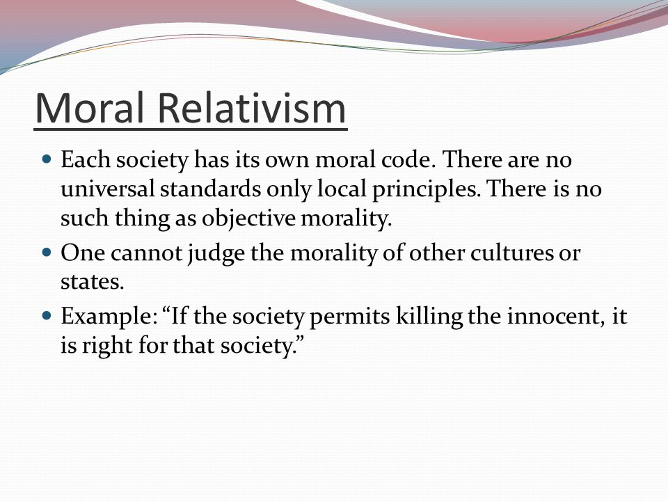 moral standards examples