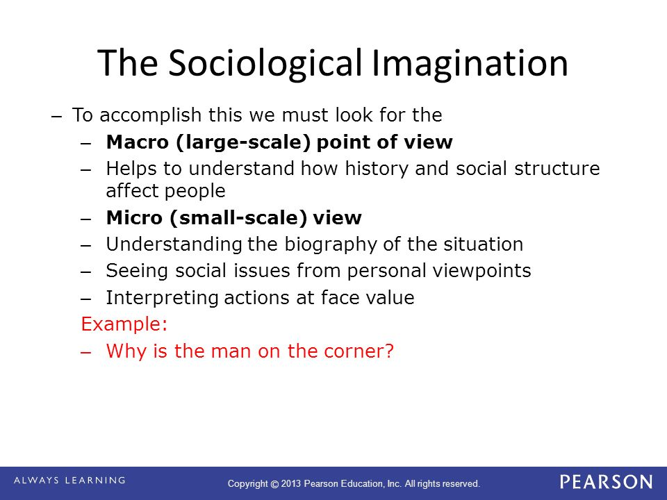sociological imagination examples education