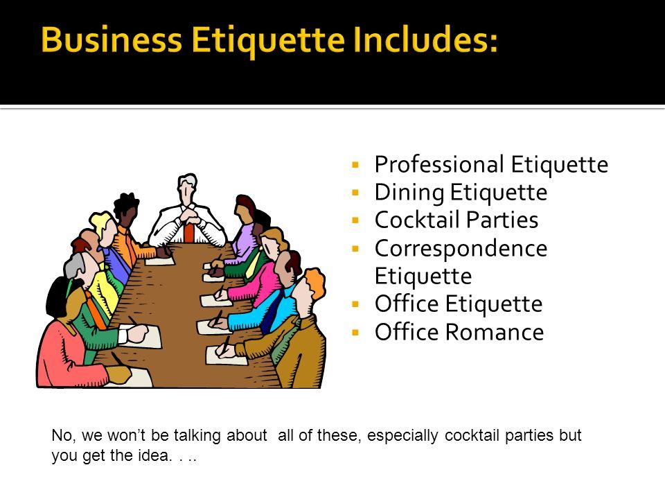 Dining Etiquette Tail Parties
