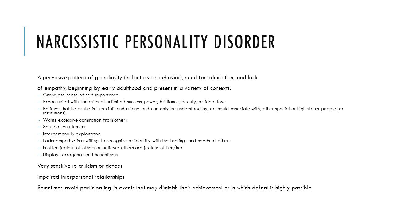 Narcissistic Behavior Patterns New Design Inspiration