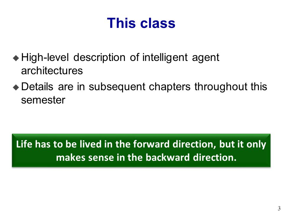 Intelligent Agent Architectures Chapter 2 of AIMA  - ppt