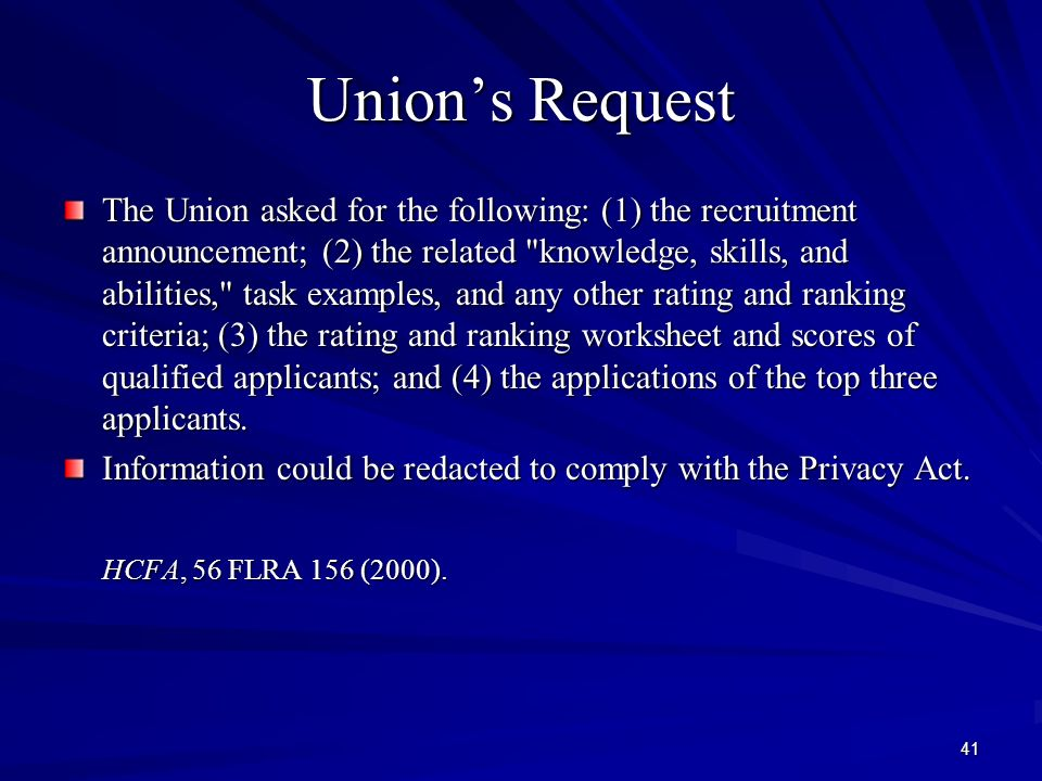 Advanced FLRA Statutory Training 2 Unions Right To Collective