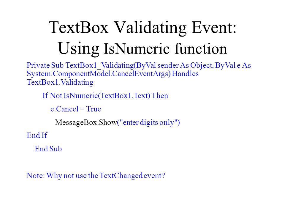 Textbox validating event vb net