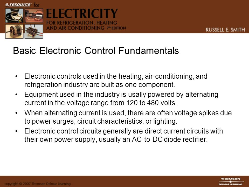 Solid-State Controls and Systems Electricity for Refrigeration
