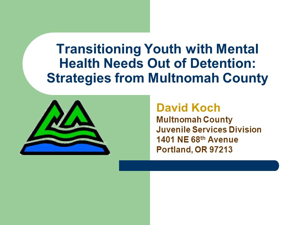 Transitioning Youth with Mental Health Needs Out of