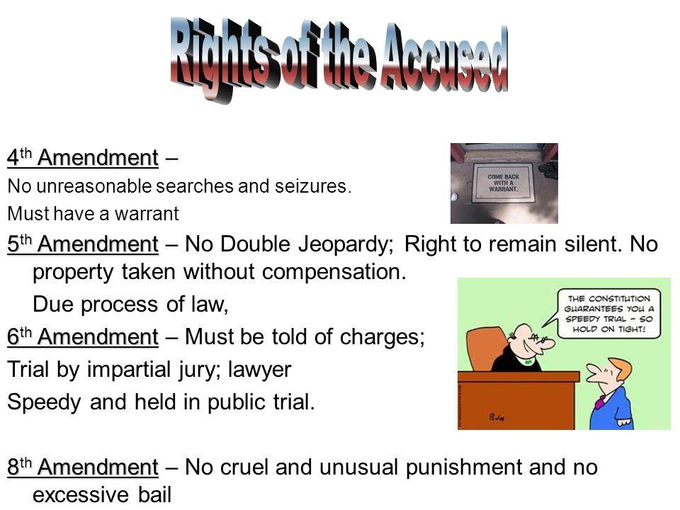 4 Th Amendment 4 Th Amendment No Unreasonable Searches And Seizures