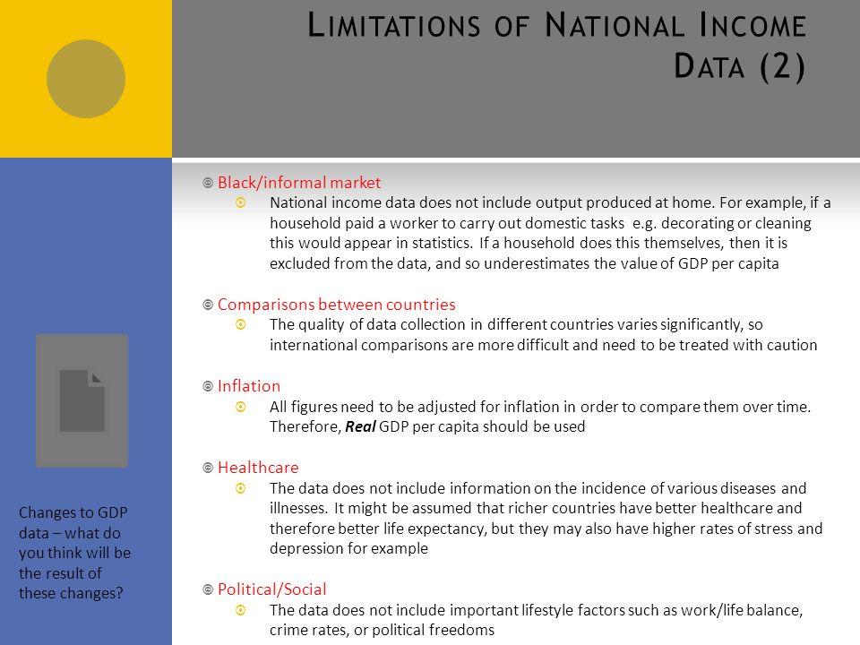 3 4 1 Macroeconomic Indicators Uses of National Income Data