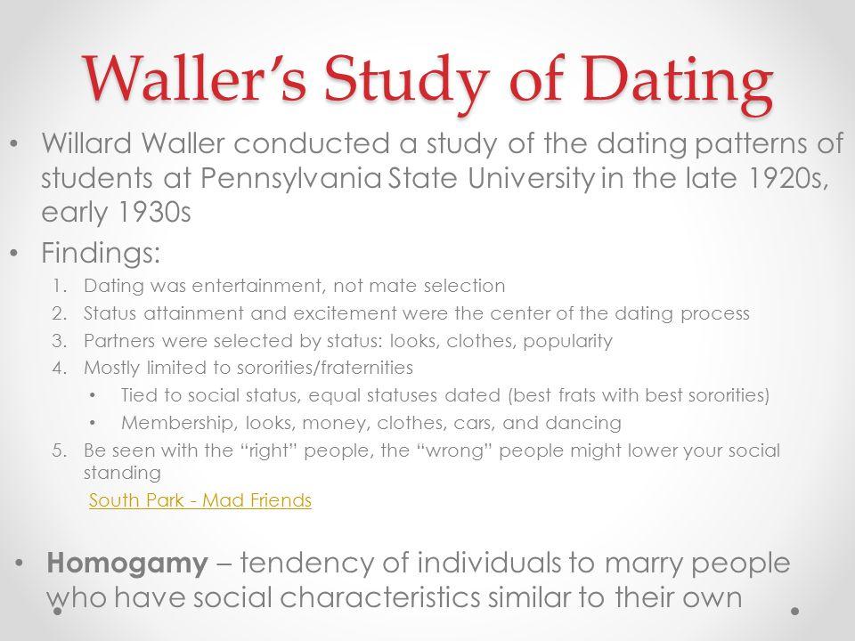 Willard Waller dating